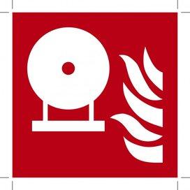 F013: Fixed Fire Extinguishing Bottle 500x500 (sticker)