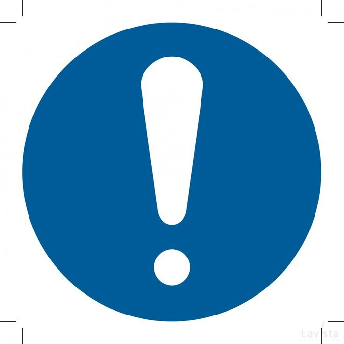 General Mandatory Action Sign (Sticker)