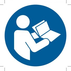 Refer To Instruction Manual/booklet 100x100 (sticker)