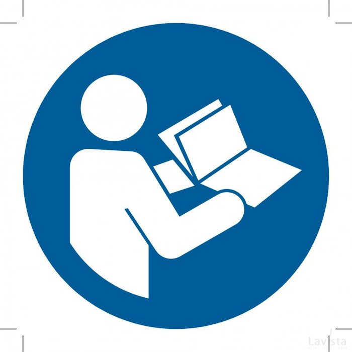 Refer To Instruction Manual/booklet 500x500 (sticker)