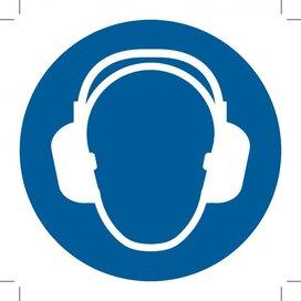 Wear Ear Protection 100x100 (sticker)