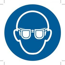 Wear Eye Protection 100x100 (sticker)