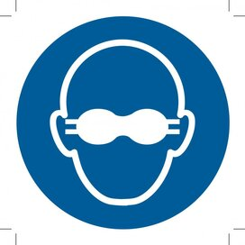 Opaque Eye Protection Must Be Worn 100x100 (sticker)