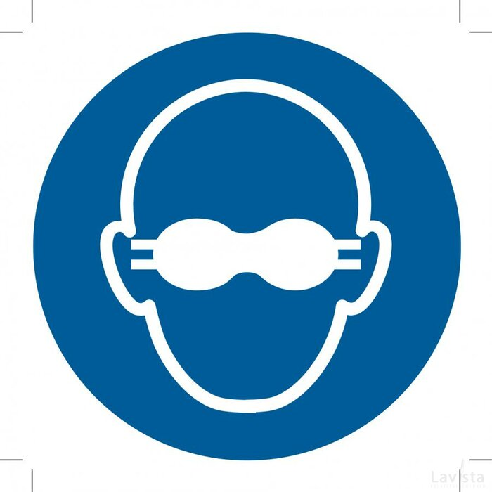 Opaque Eye Protection Must Be Worn 500x500 (sticker)