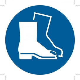 Wear Safety Footwear 100x100 (sticker)
