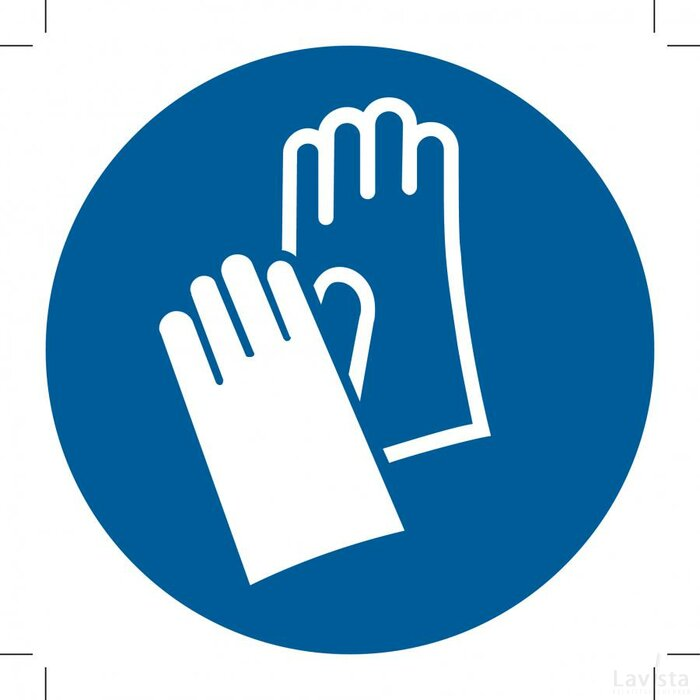Wear Protective Gloves 100x100 (sticker)