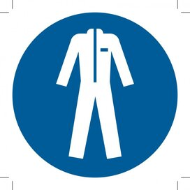 Wear Protective Clothing 100x100 (sticker)
