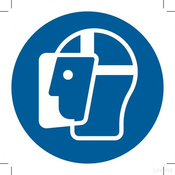 Wear A Face Shield 100x100 (sticker)