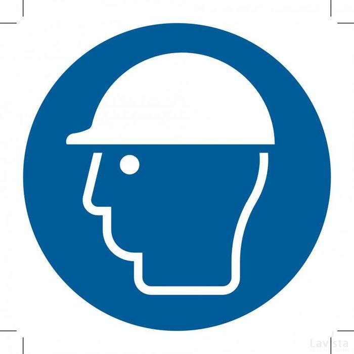 Wear Head Protection 100x100 (sticker)