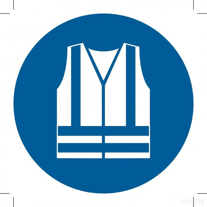 Wear High-visibility Clothing 100x100 (sticker)