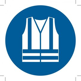 Wear High-visibility Clothing 200x200 (sticker)