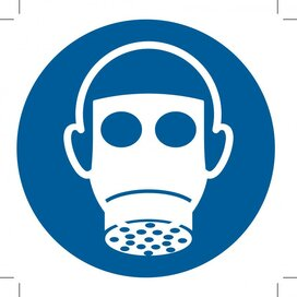 Wear Respiratory Protection 100x100 (sticker)