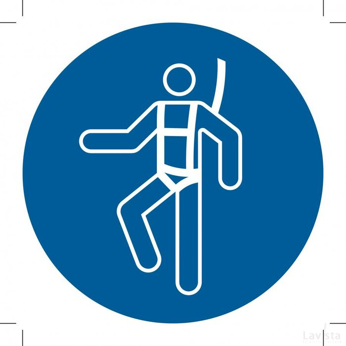 Wear A Safety Harness 100x100 (sticker)