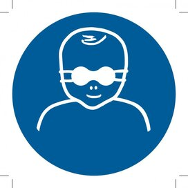 Protect Infants' Eyes With Opaque Eye Protection 100x100 (sticker)