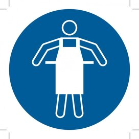 Use Protective Apron 100x100 (sticker)