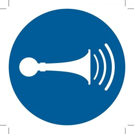 M029: Sound Horn 100x100 (sticker)