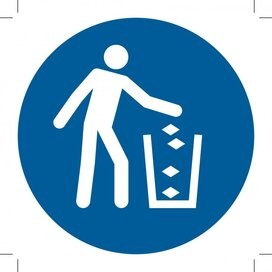 M030: Use Litter Bin 100x100 (sticker)