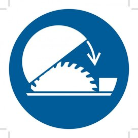 M031: Use Table Saw Adjustable Guard (Sticker)