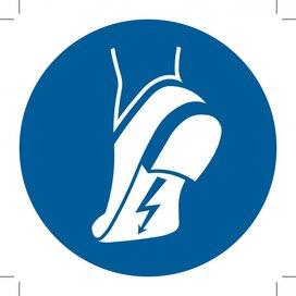 M032: Wear Anti-static Footwear 100x100 (sticker)