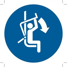 M033: Close Safety Bar Of Chairlift 100x100 (sticker)