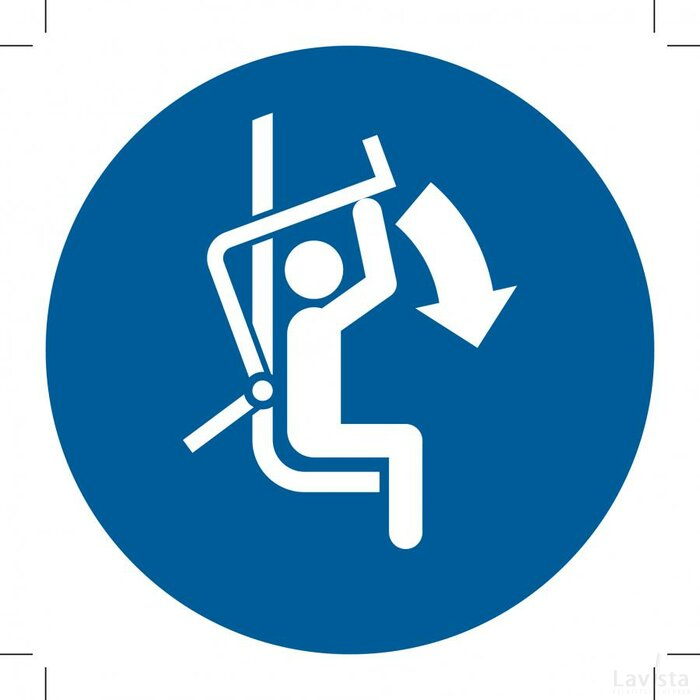 M033: Close Safety Bar Of Chairlift 500x500 (sticker)