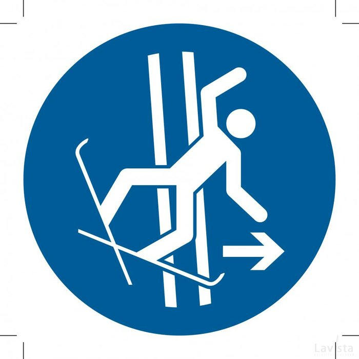 M035: Immediately Leave The Tow-Track In The Event Of Falling (Sticker)