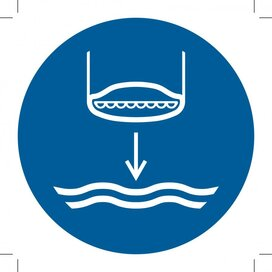 M039: Lower Lifeboat To The Water In Launch Sequence 300x300 (sticker)