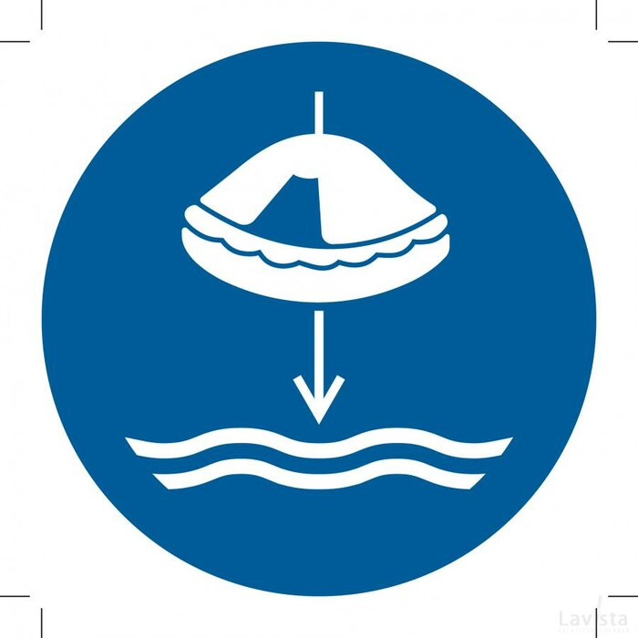 M040: Lower Liferaft To The Water In Launch Sequence 100x100 (sticker)