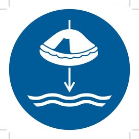 M040: Lower Liferaft To The Water In Launch Sequence 300x300 (sticker)