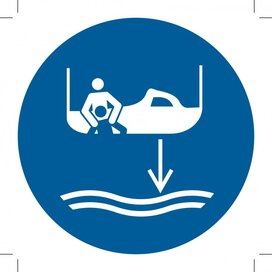 M041: Lower Rescue Boat To The Water In Launch Sequence (Sticker)