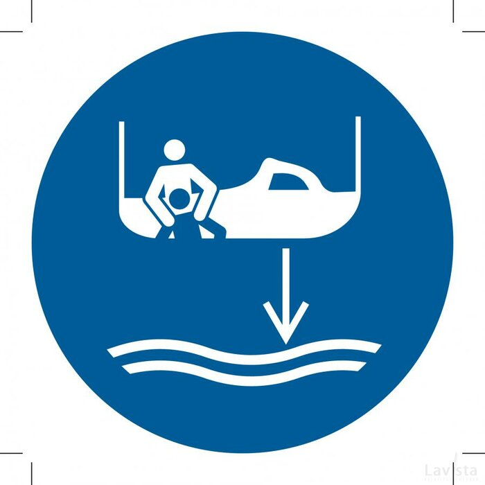 M041: Lower Rescue Boat To The Water In Launch Sequence 500x500 (sticker)