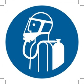 M047: Use Self-Contained Breathing Appliance (Sticker)