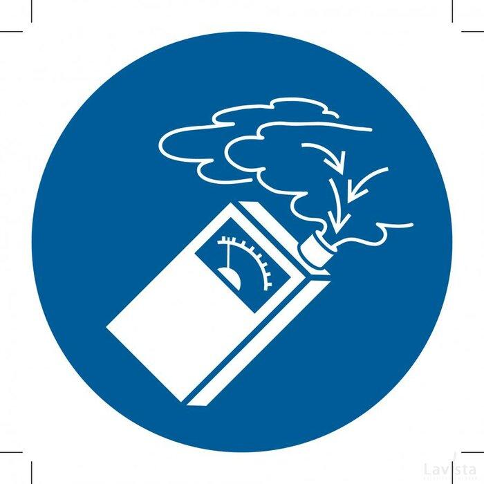 M048: Use Gas Detector 400x400 (sticker)