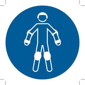 M049: Wear Protective Roller Sport Equipment 100x100 (sticker)