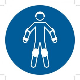 M049: Wear Protective Roller Sport Equipment 400x400 (sticker)
