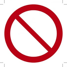 Algemeen verbodsteken 100x100 (sticker)
