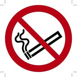 Verboden te roken ISO7010 150x150 (sticker)