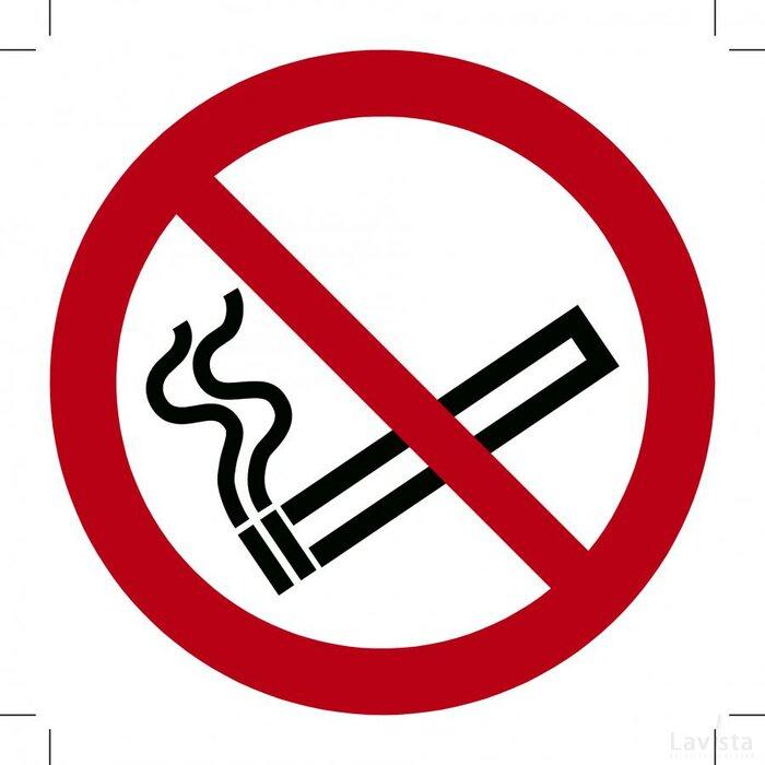 Verboden te roken ISO7010 300x300 (sticker)