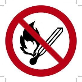 Open vuur verboden 300x300 (sticker)