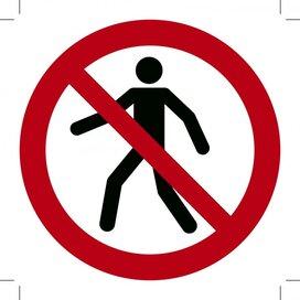 Verboden voor Voetgangers 100x100 (sticker)
