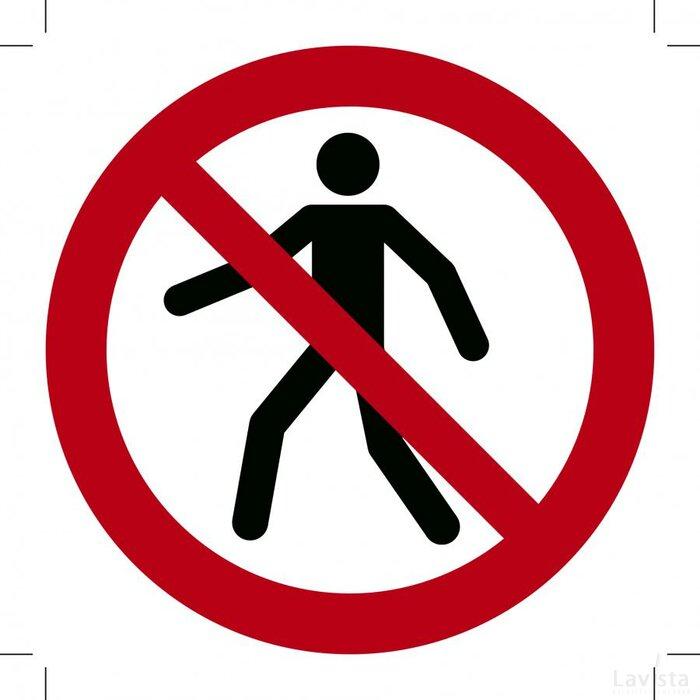 Verboden voor Voetgangers 300x300 (sticker)