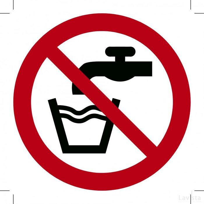 Geen Drinkwater 500x500 (sticker)
