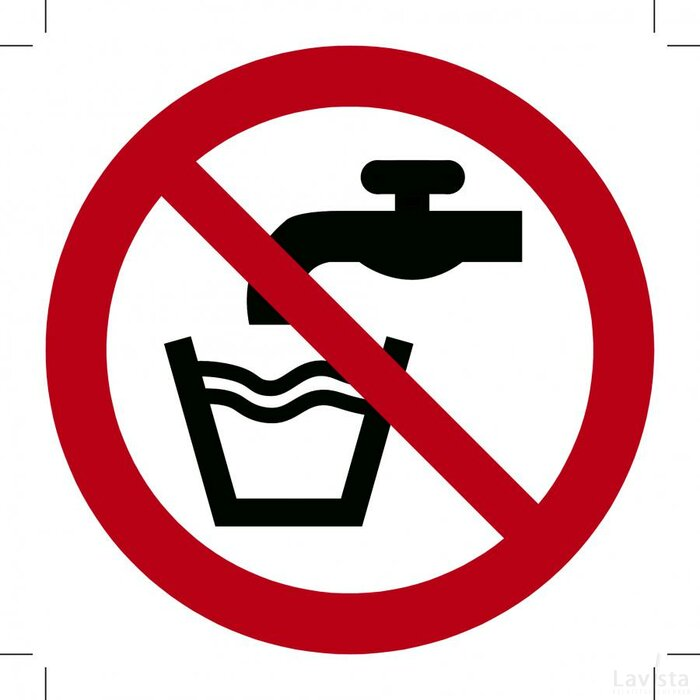 Geen Drinkwater 200x200 (bordje)