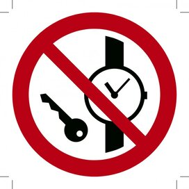 Metalen voorwerpen verboden 100x100 (sticker)