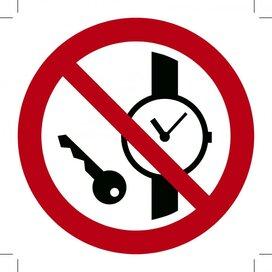 Metalen voorwerpen verboden 150x150 (sticker)