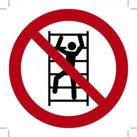Verboden te Klimmen 100x100 (sticker)