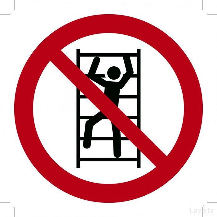 Verboden te Klimmen 400x400 (sticker)