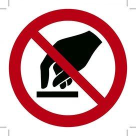 Verboden Aan Te Raken (Sticker)