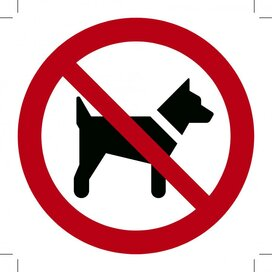 Verboden voor Honden 100x100 (sticker)