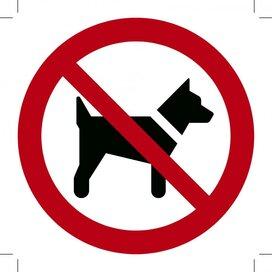Verboden voor Honden 150x150 (sticker)